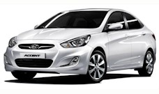 Kemer Car Hire Hyundai Accent Blue